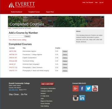 Everett Community College advisor portal final